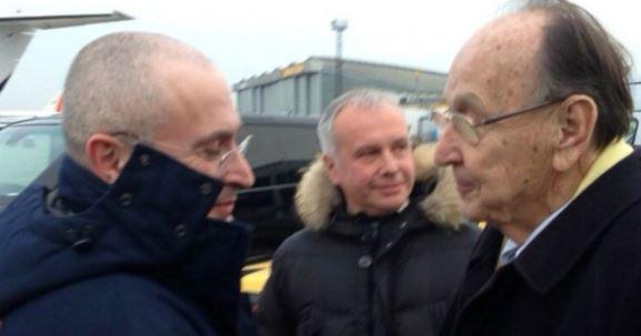 Michail Chodorkowski und der Pole Genscher