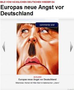 """Den Massenmedien zufolge ist Merkel die """"starke Frau"""" der EU und die BRD der dominierende Staat. Wer die Statistiken kennt, weiß, dass die BRD nur Zahlmeister ist und Merkel Handlangerin der Hochfinanz."""
