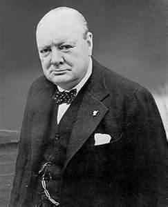 Der mit Kalergi befreundete Büttel und Mischlingsjude Winston Churchill