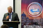 """Udo Voigt, der NPD-Europa-Abgeordnete, wurde von der Putin-Organisation """"Rodina"""" (Vaterland) zum Nationalistenkongress nach Sankt Petersburg eingeladen, wo er eine Rede hielt."""